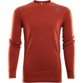 Aclima LightWool Crew Neck Shirt Kinderen, red ochre